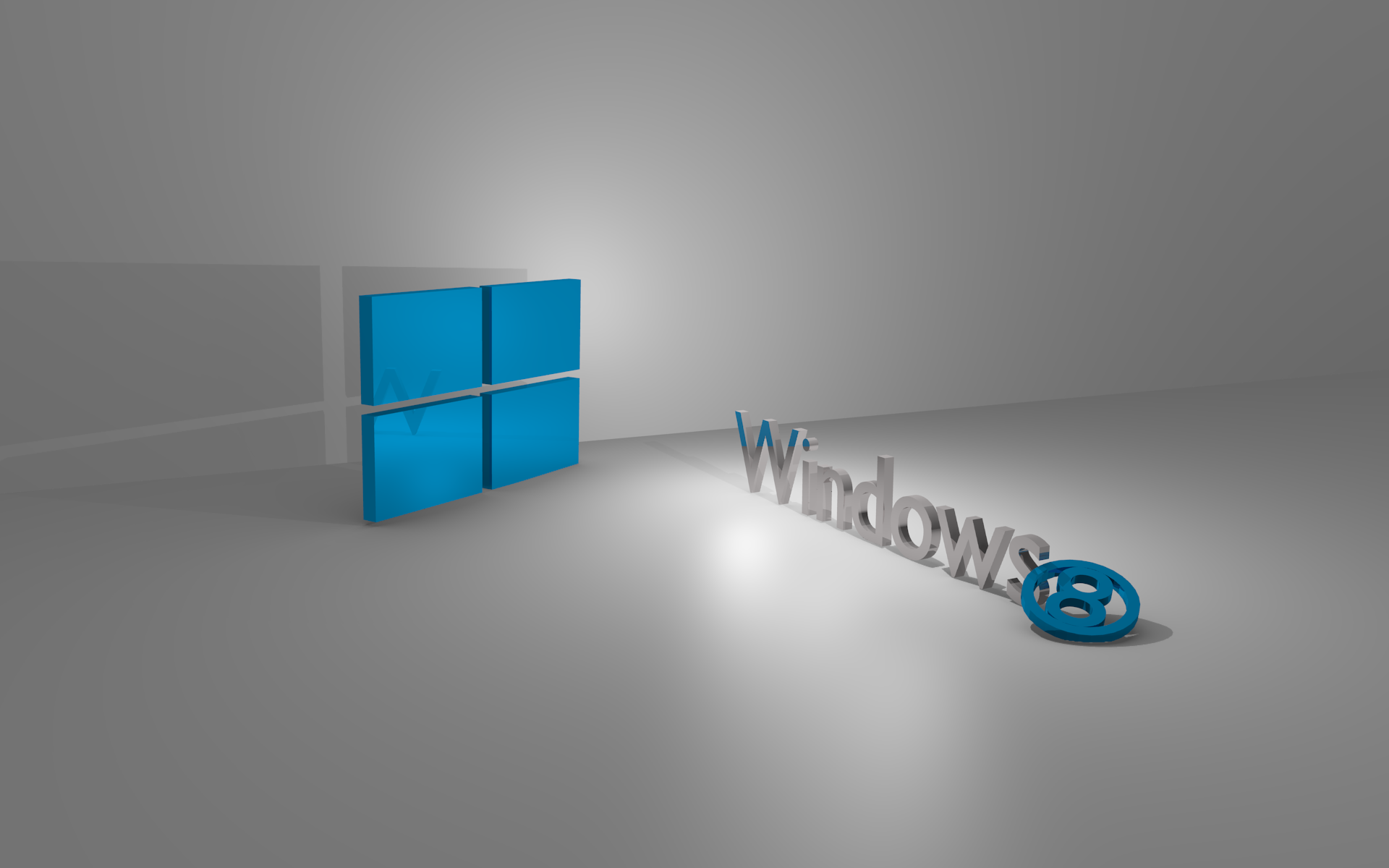 3D Windows 8 Wallpaper PC