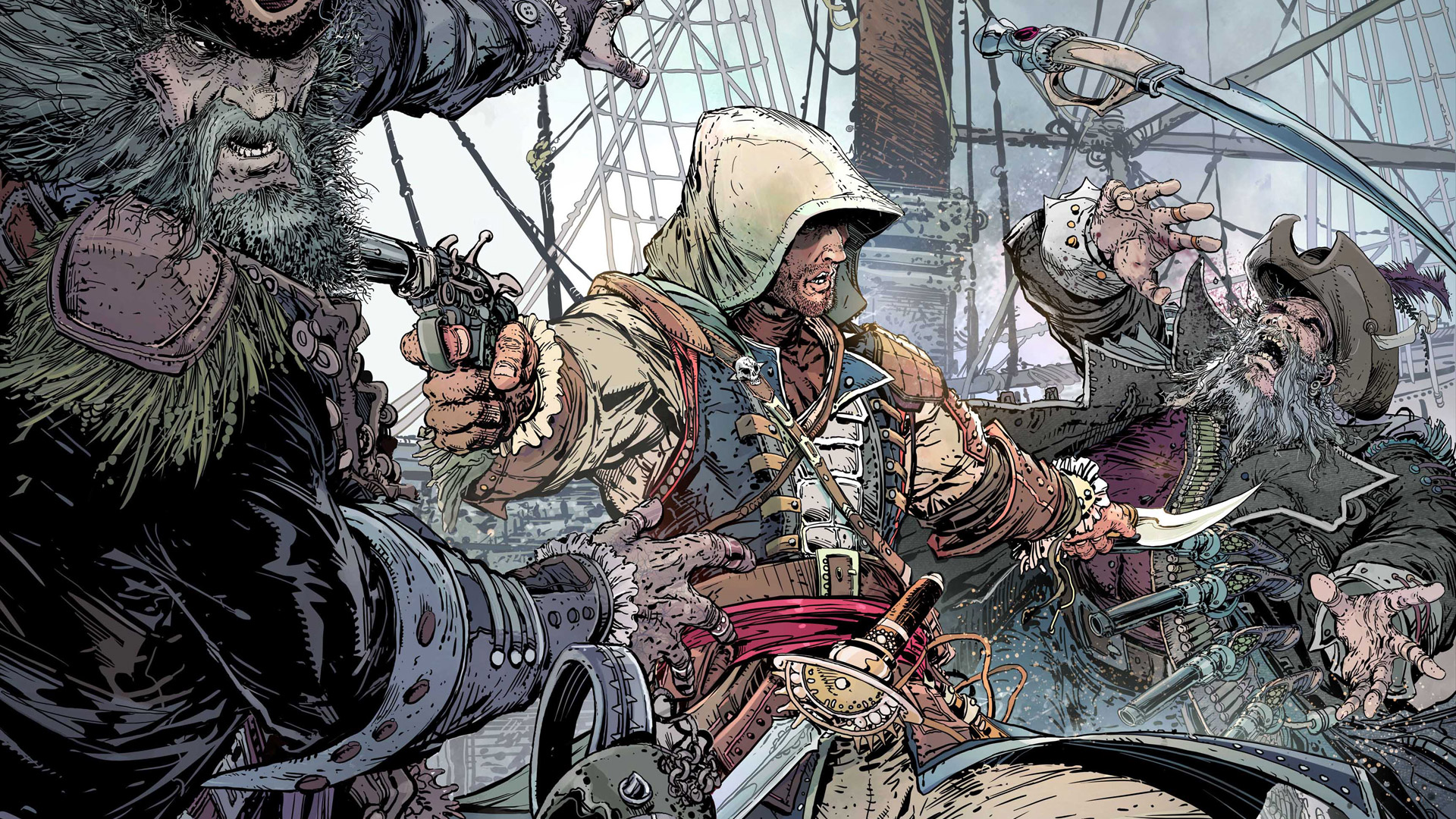 Assasin's Creed 4 Black Flag Cartoon Wallpaper