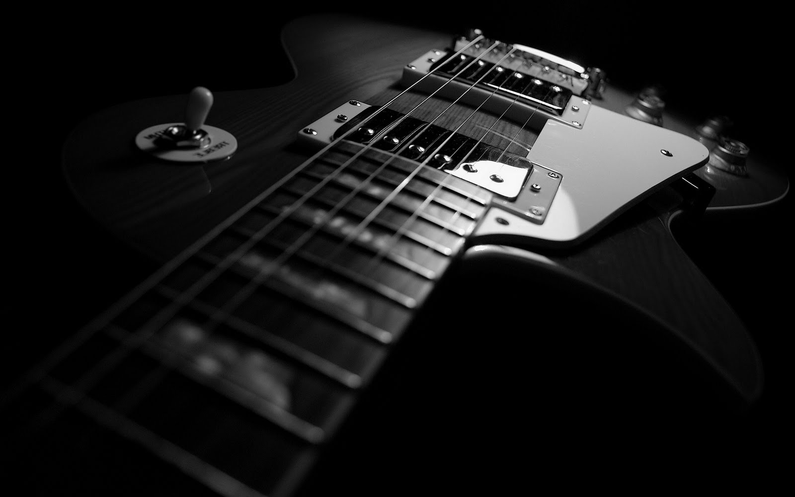 Awesome Black Guitar Wallpaper