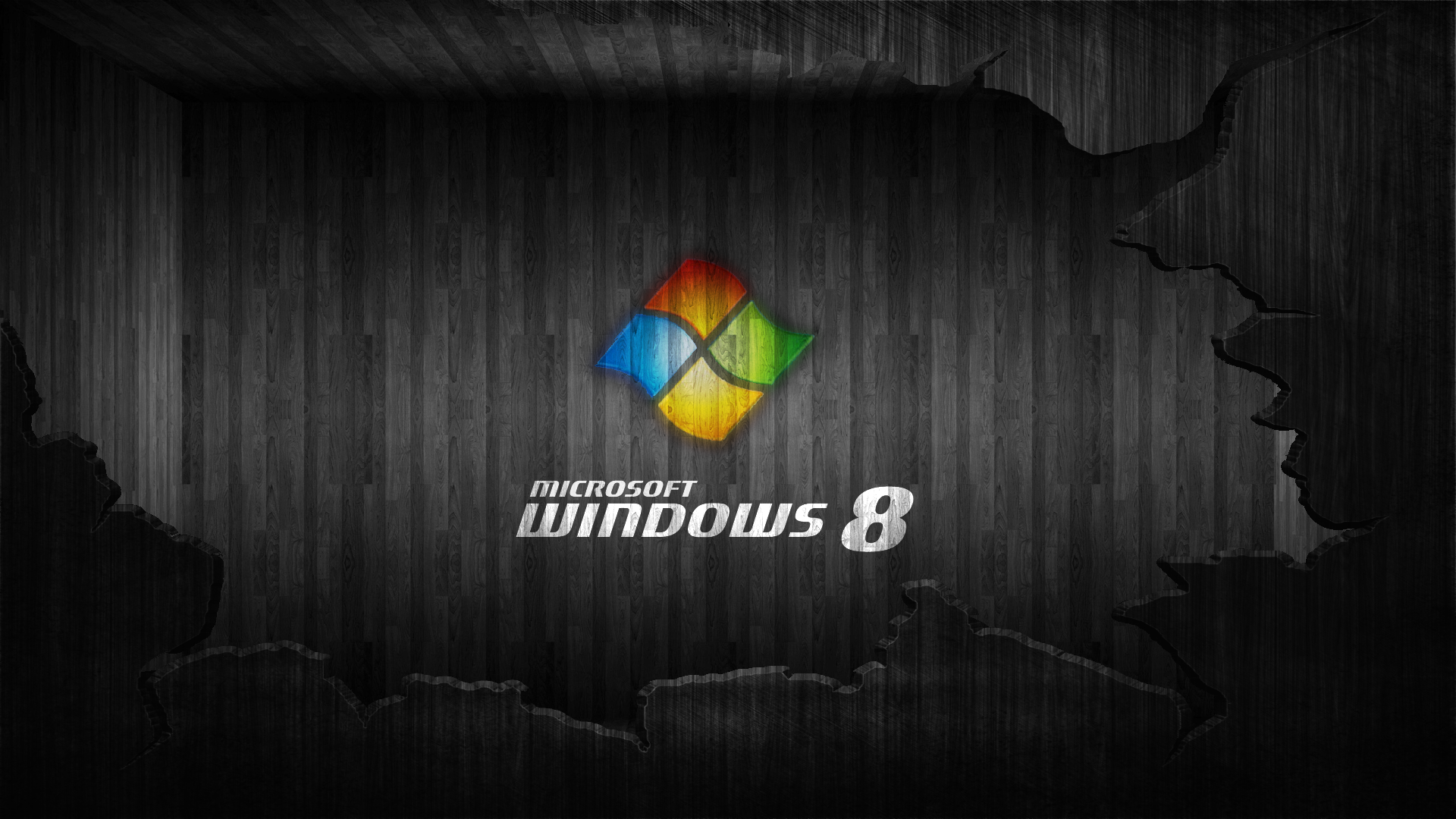 Black Windows 8 Wallpaper Image