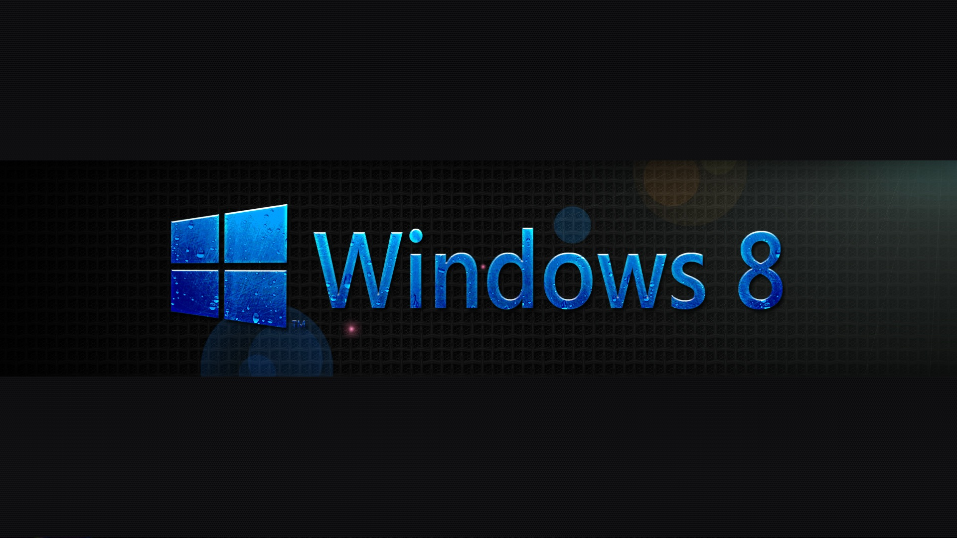Blue Windows 8 in Black Wallpaper