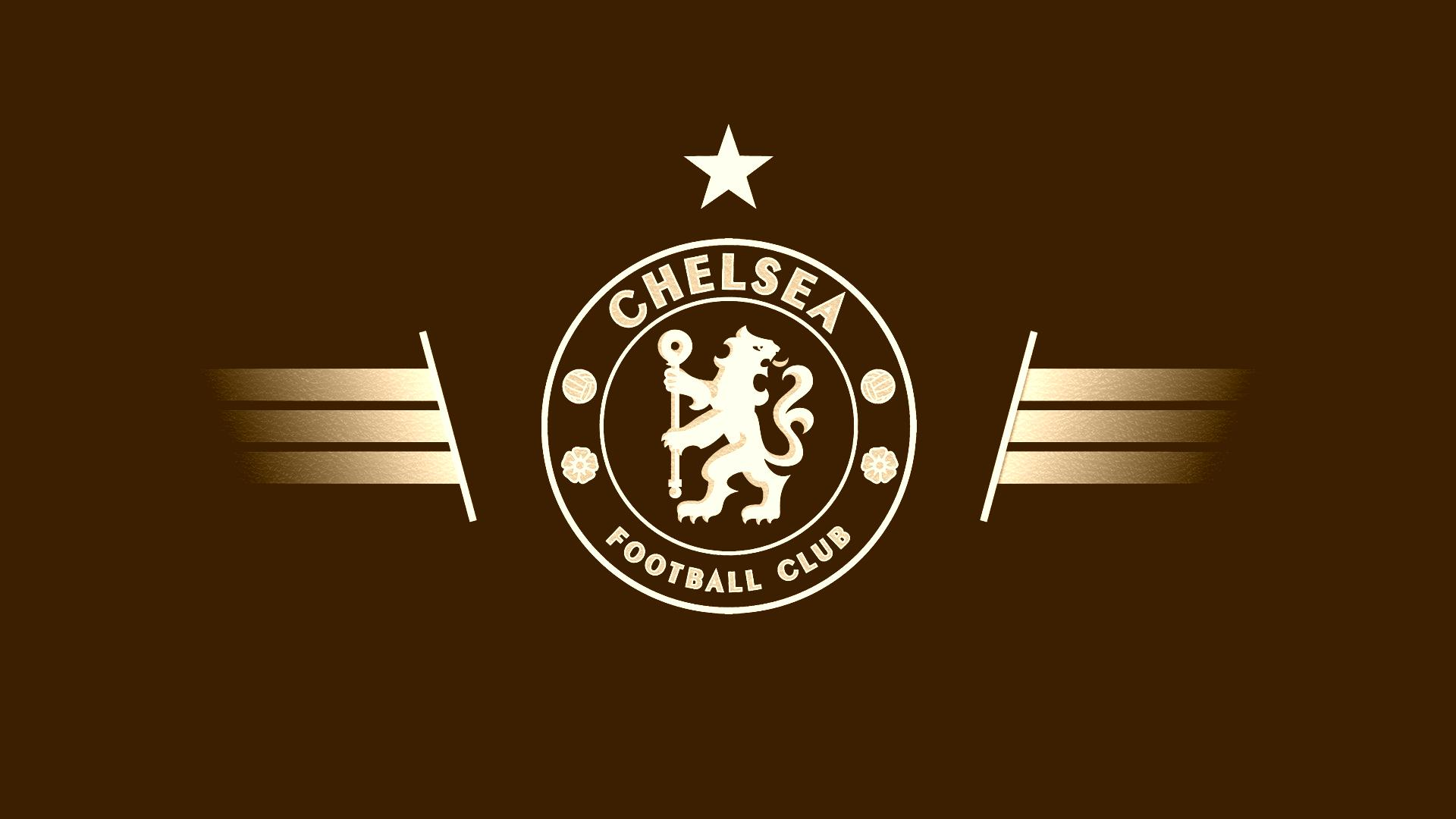 Brown Chelsea Logo Wallpaper