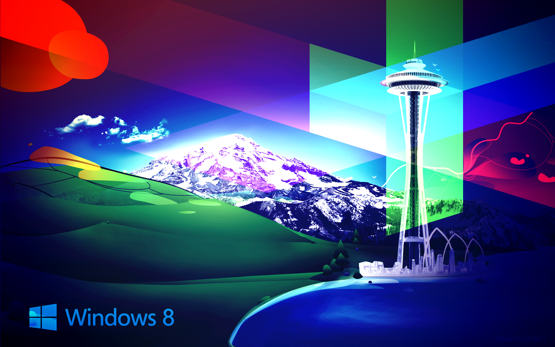 Full Color Windows 8 Wallpaper PC