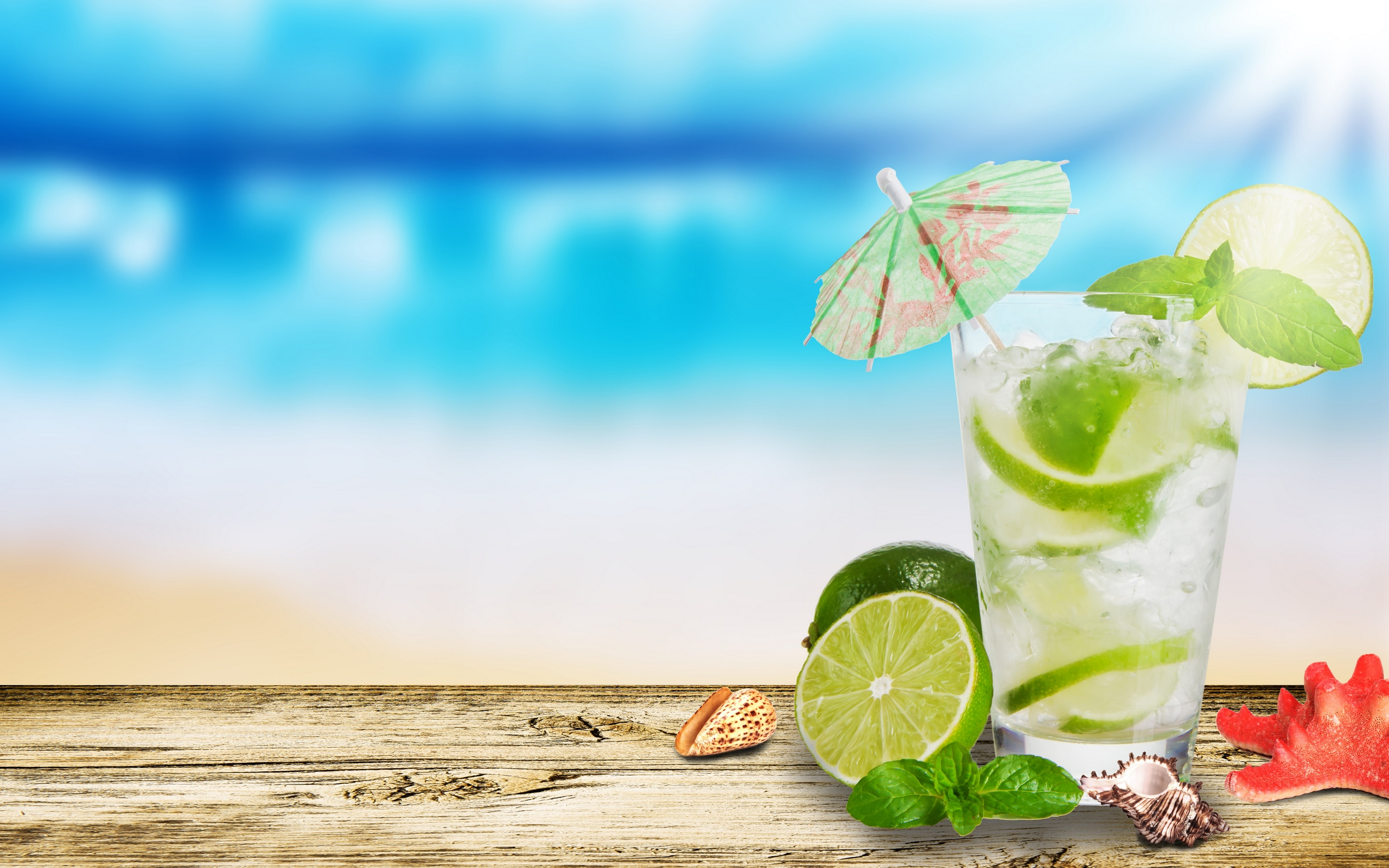 Lemon Summer Drink Wallpaper