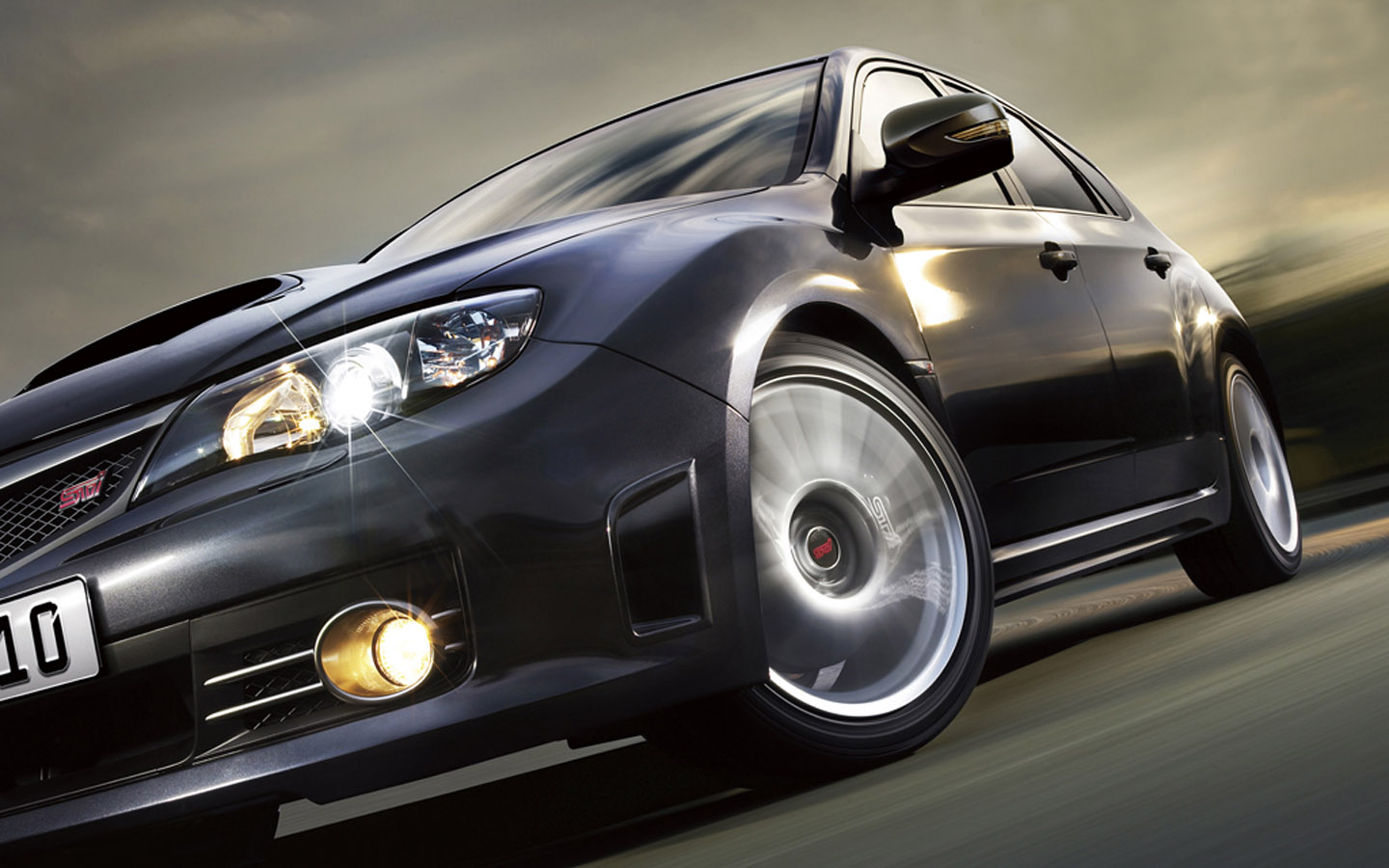 On Road Subaru Impreza Wallpaper Background