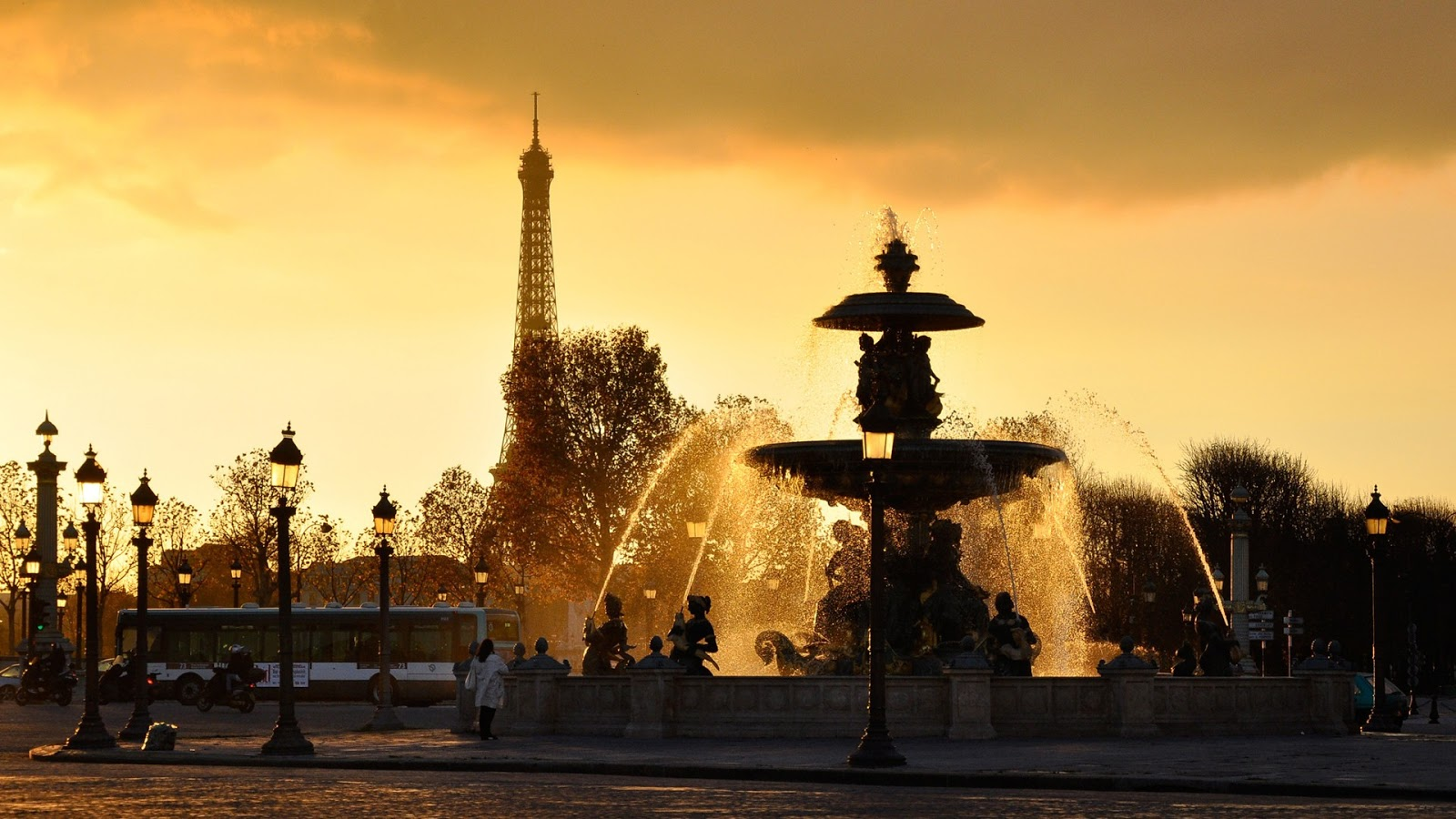 Paris In Afternoon Wallpaper
