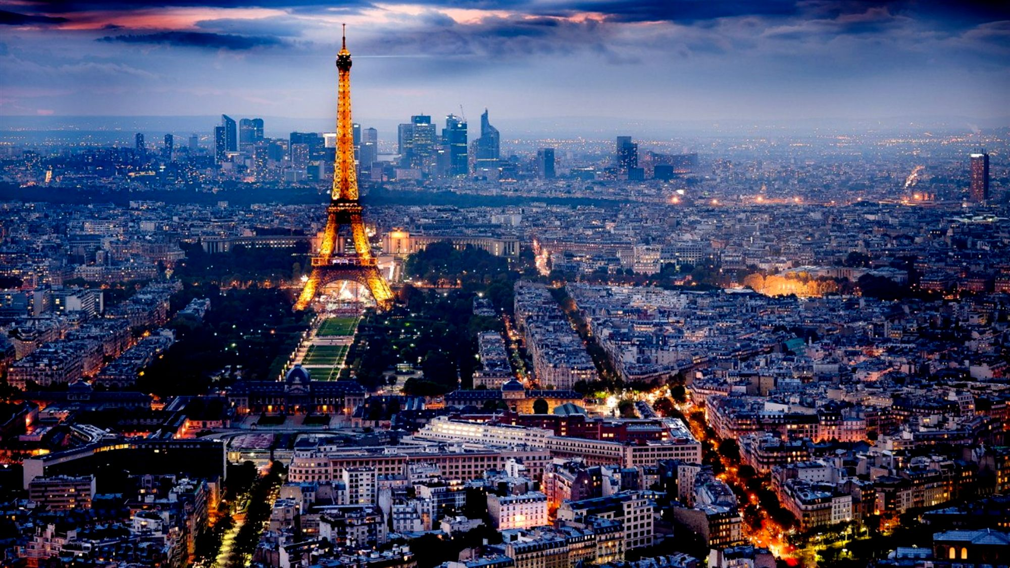 Paris In The Night Wallpaper Desktop