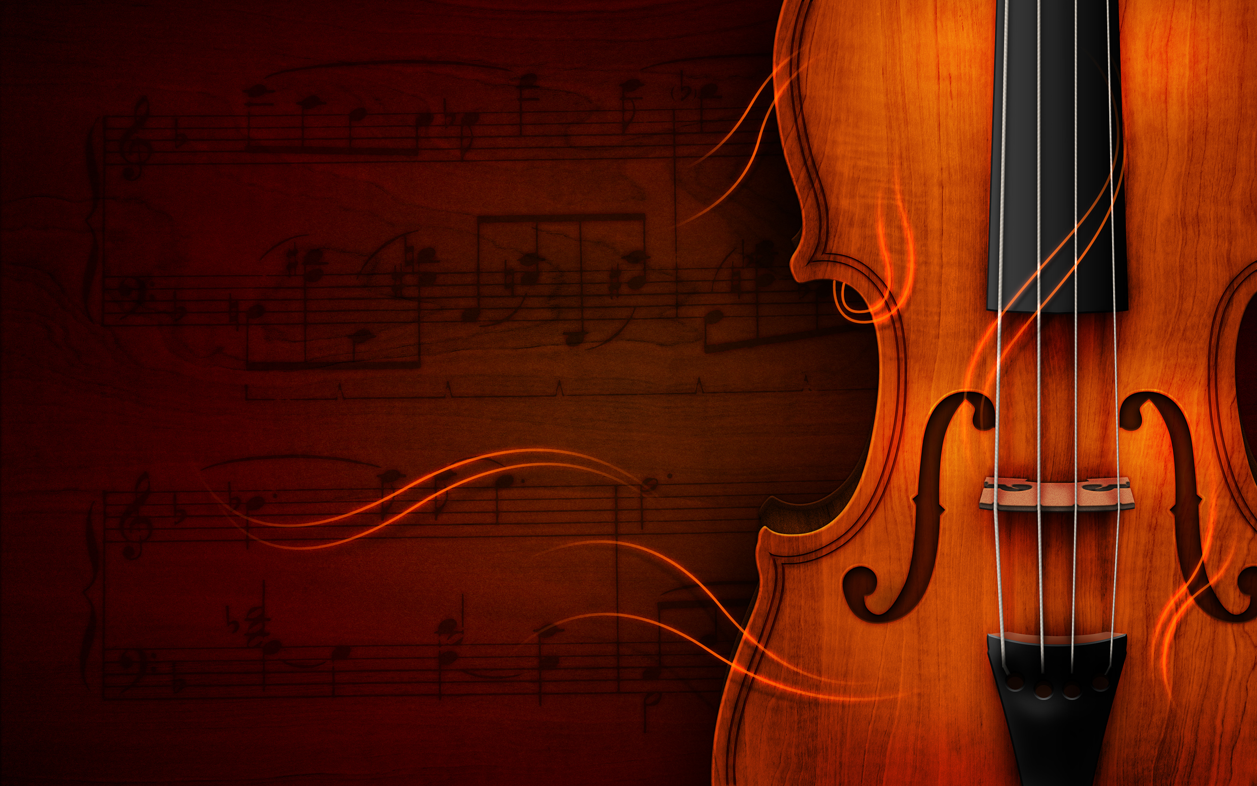 Art Violin Picture Wallpaper Free