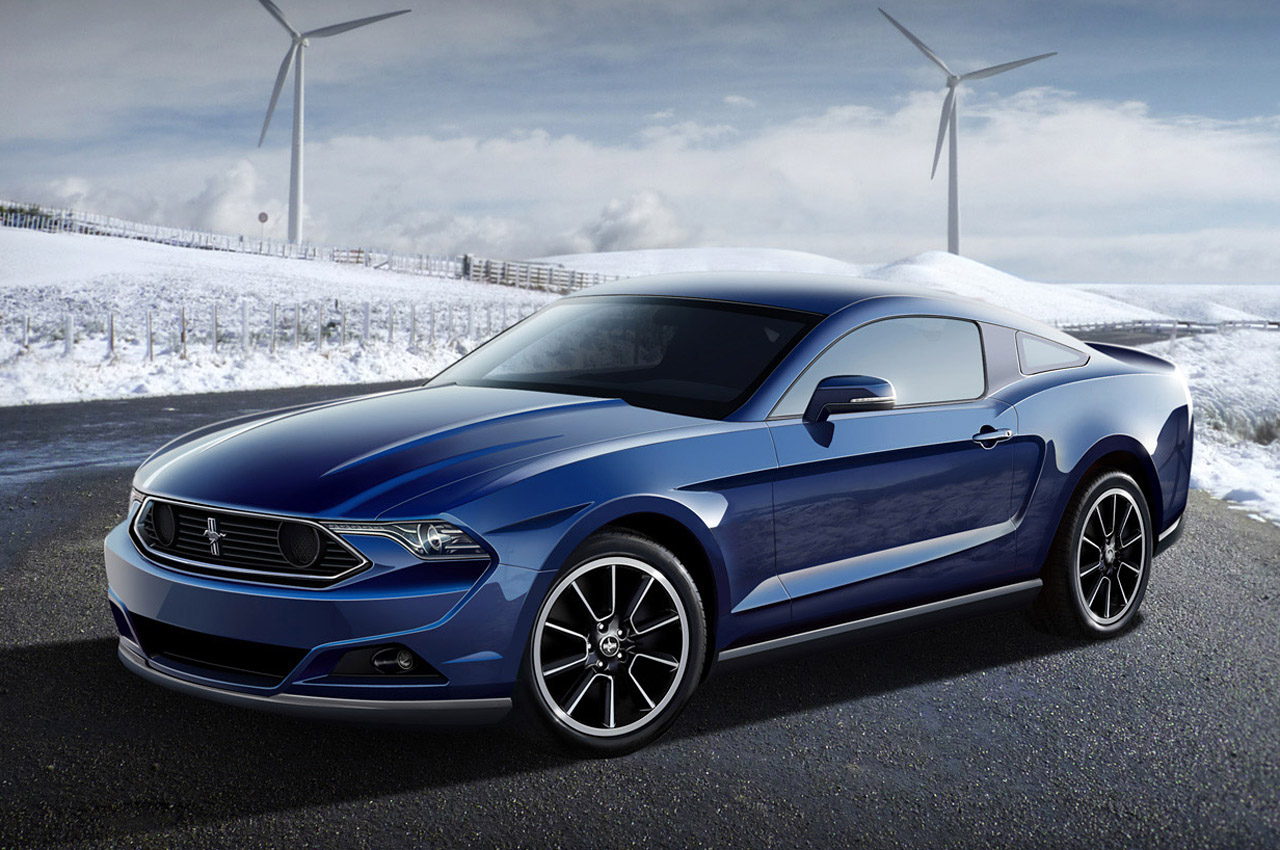 Blue Ford Mustang Wide Wallpaper