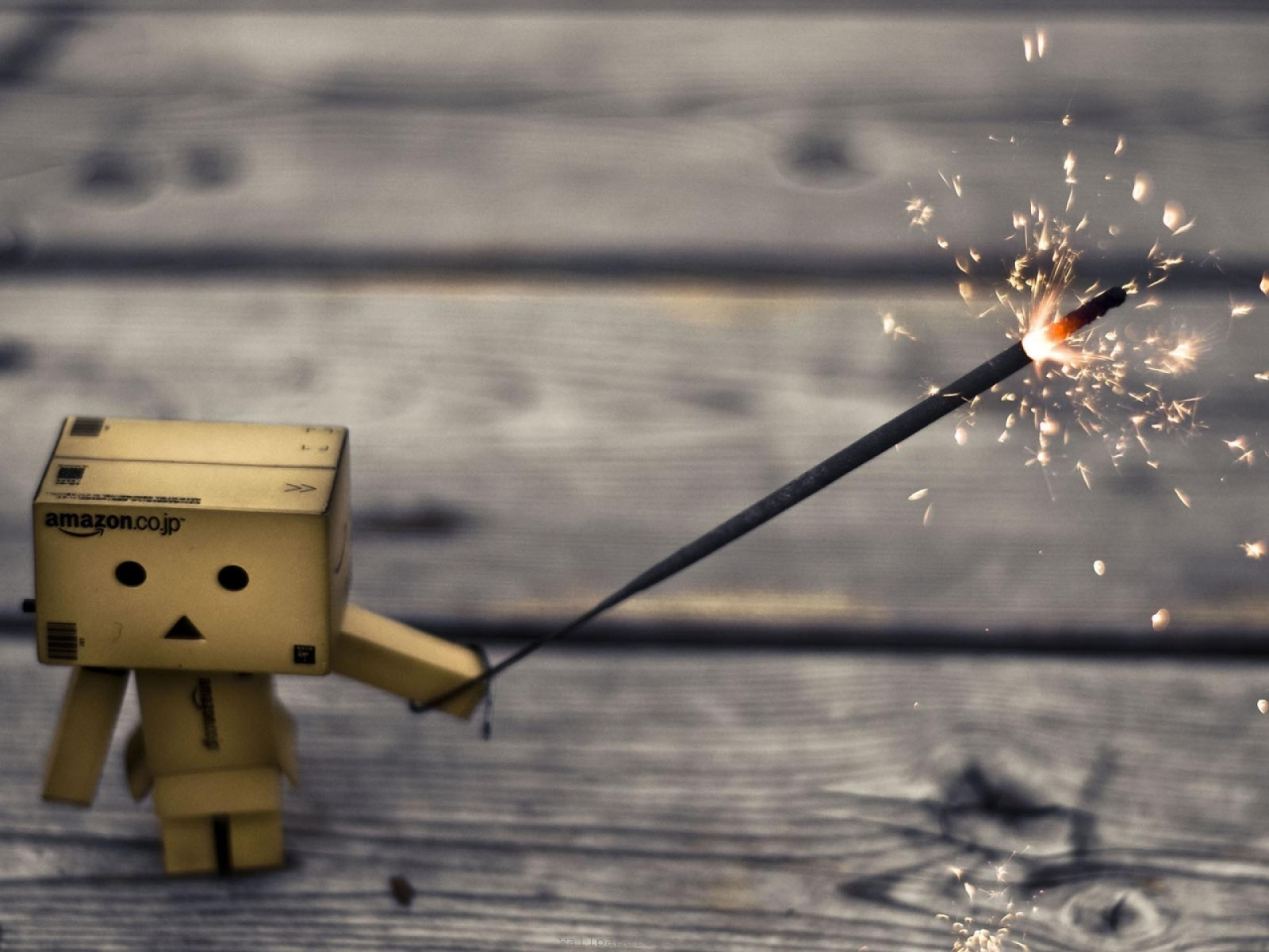 Danbo Fire Flower Wallpaper Image