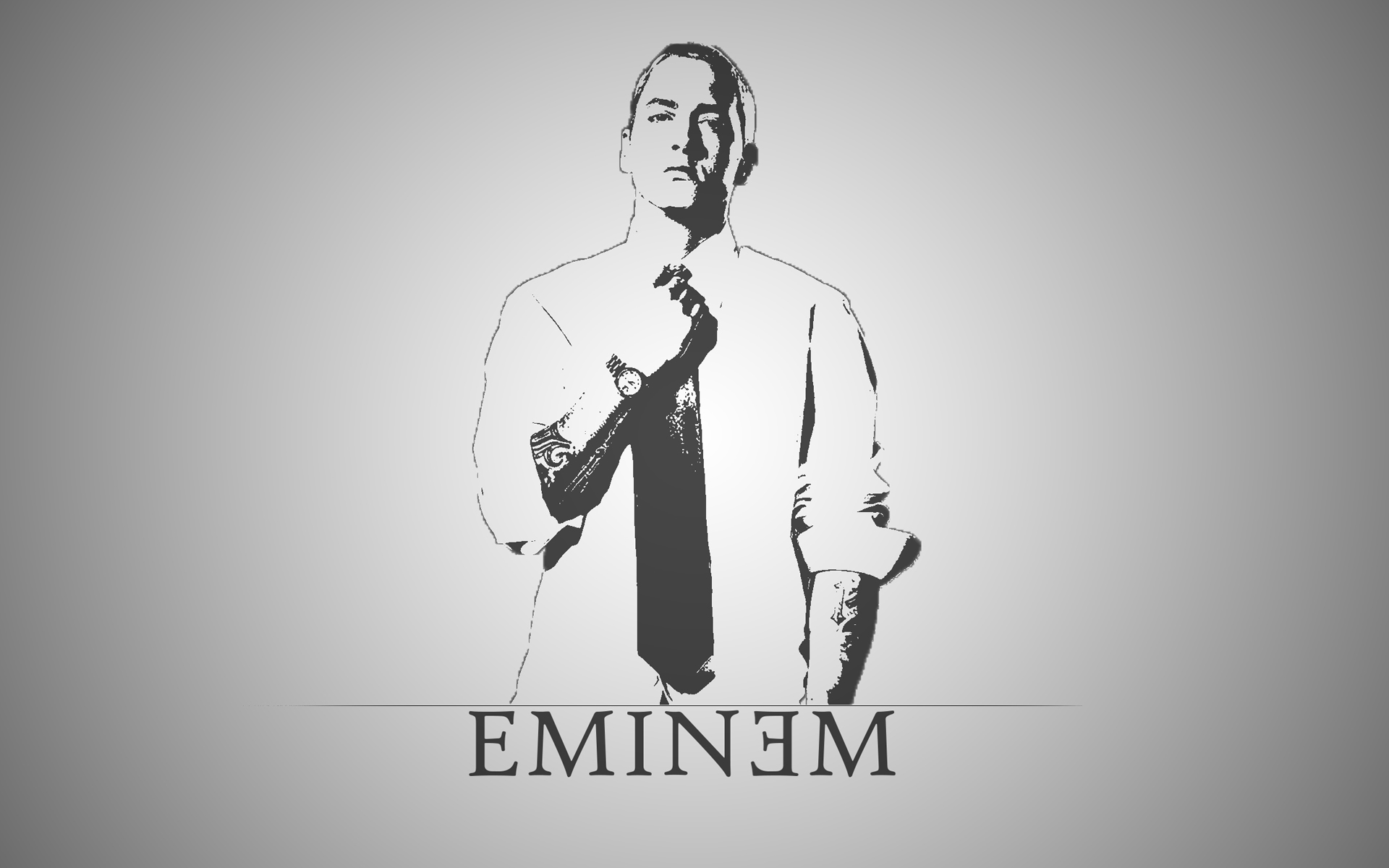 Eminem White Black Wallpaper