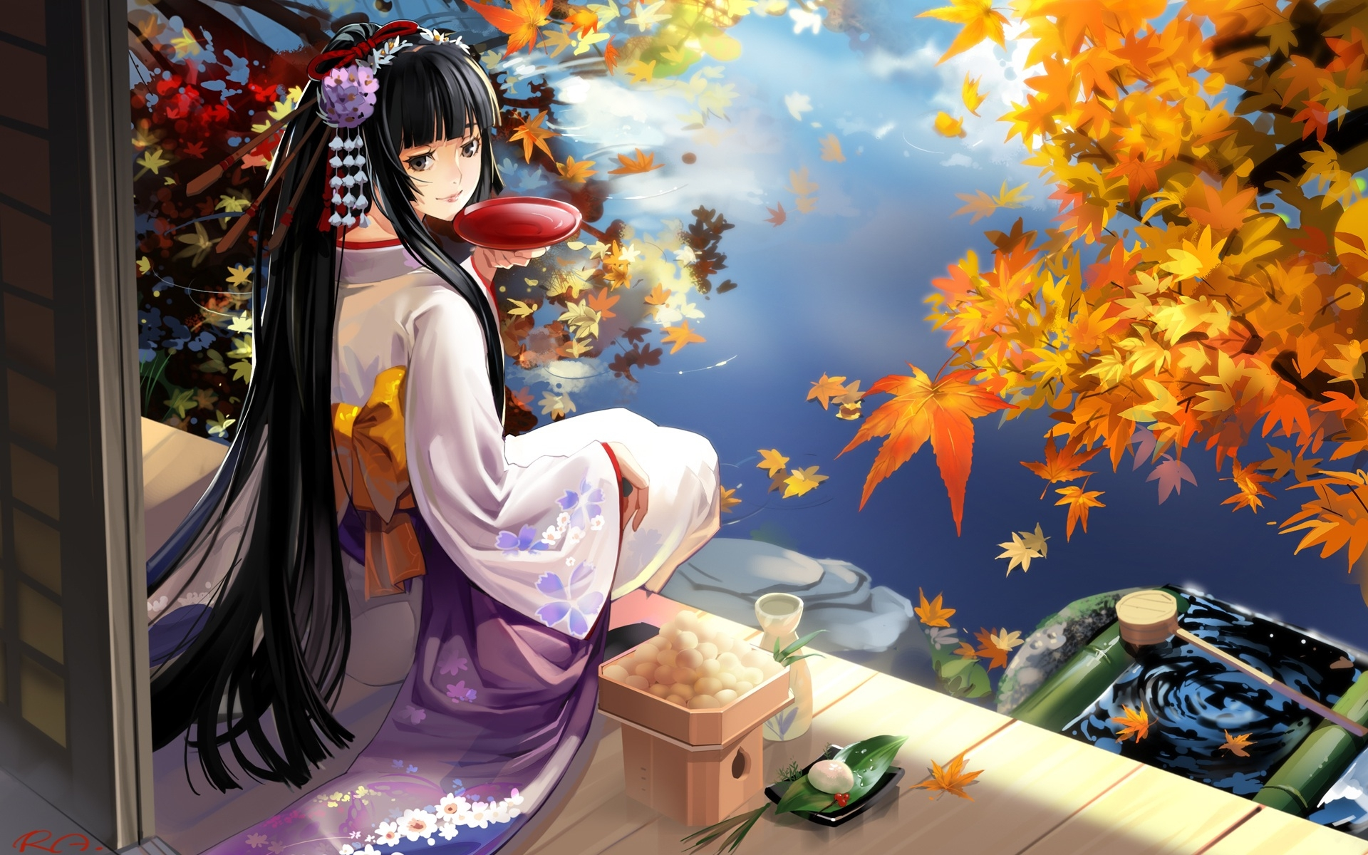 Manga Japan Girl Cute Wallpaper