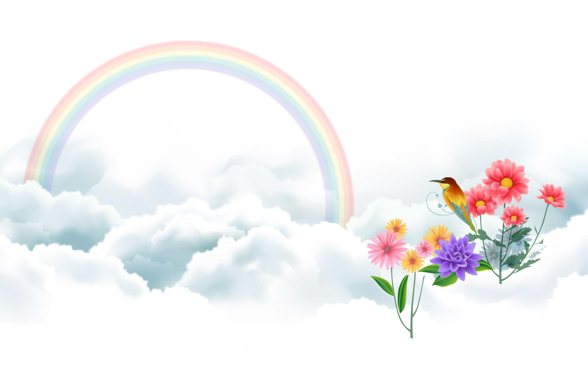 Rainbow And Cute Color Wallpaper