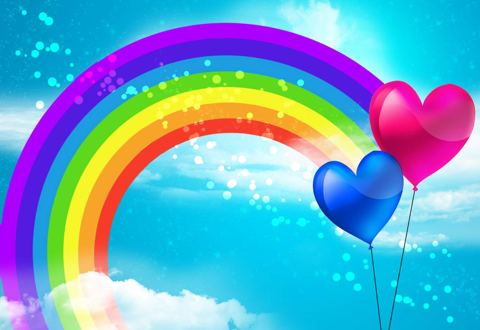 Rainbow Picture Baloons Wallpaper