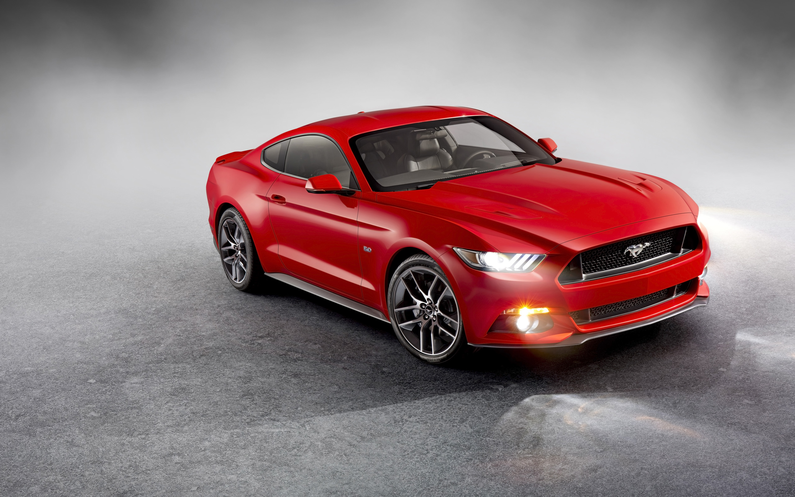 Red Mustang 2015 Wallpaper HD