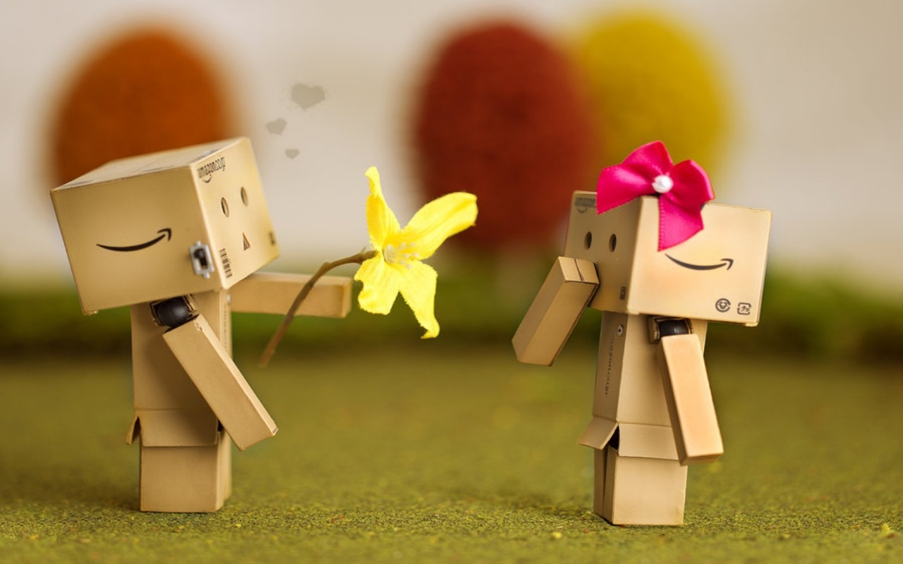 Romantic Love Danbo Wallpaper Wide