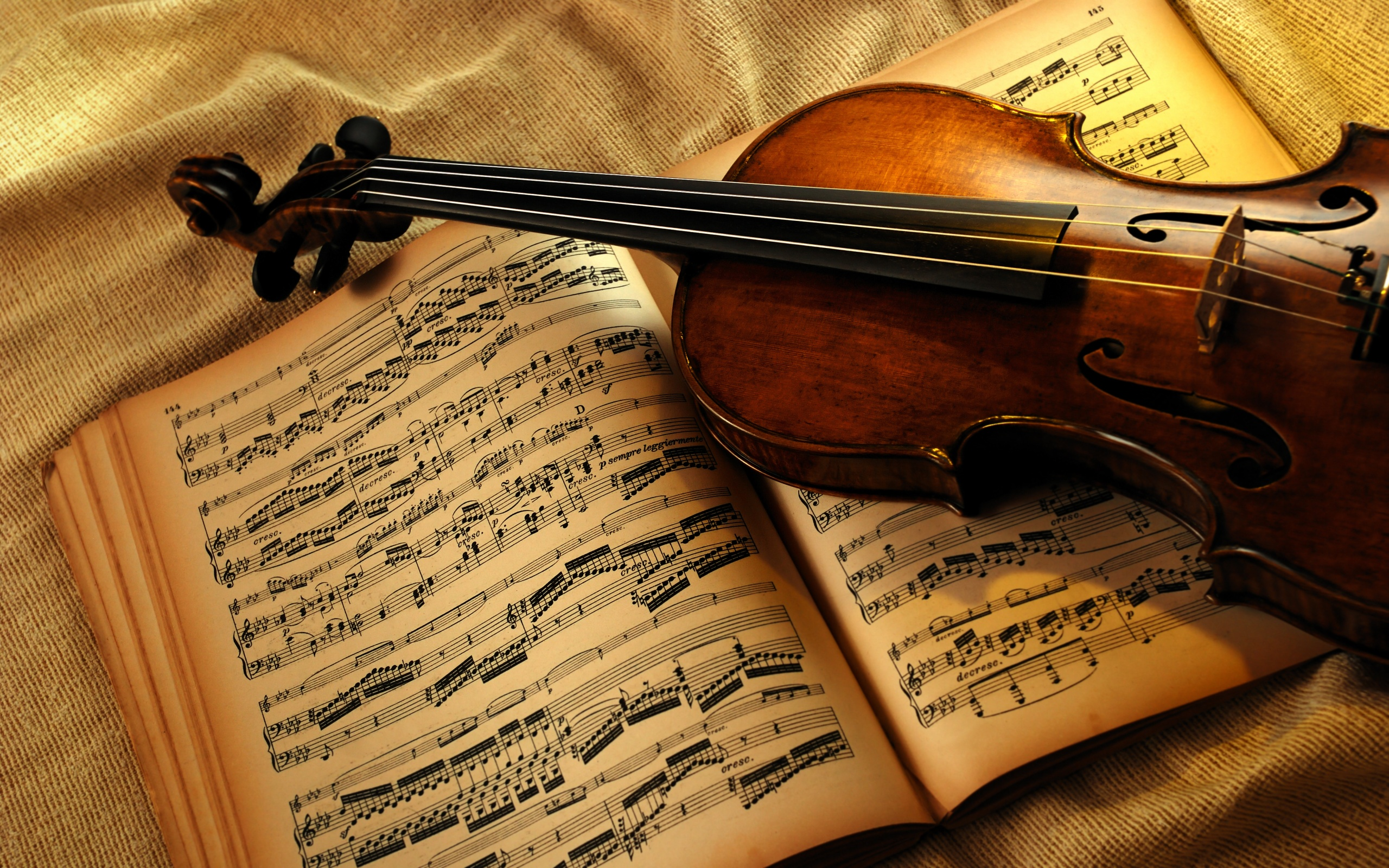 Tone Book And Violin Wallpaper Widescreen