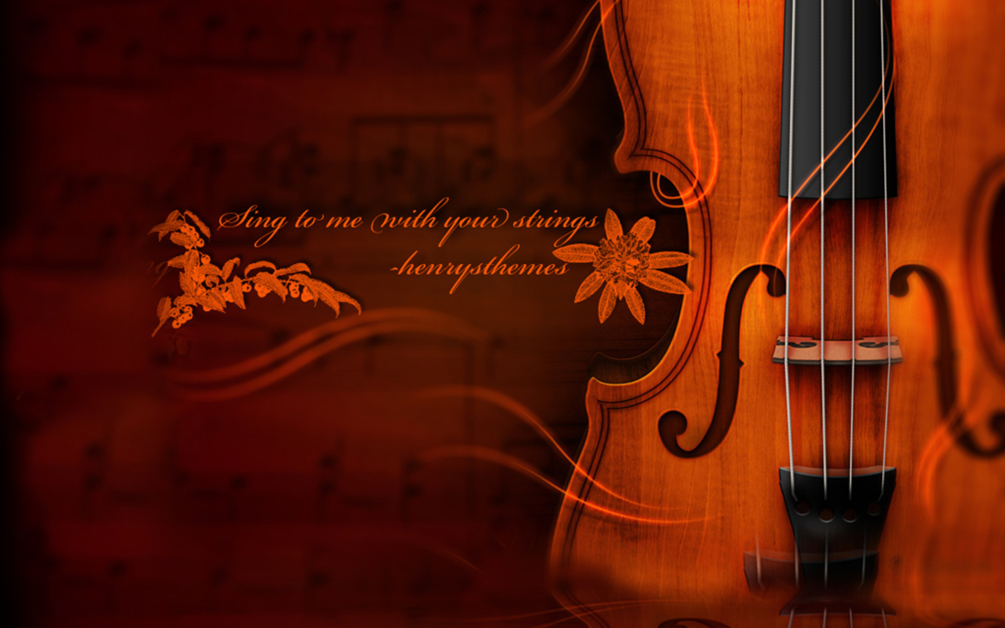 Violin And Cool Quote Wallpaper Desktop