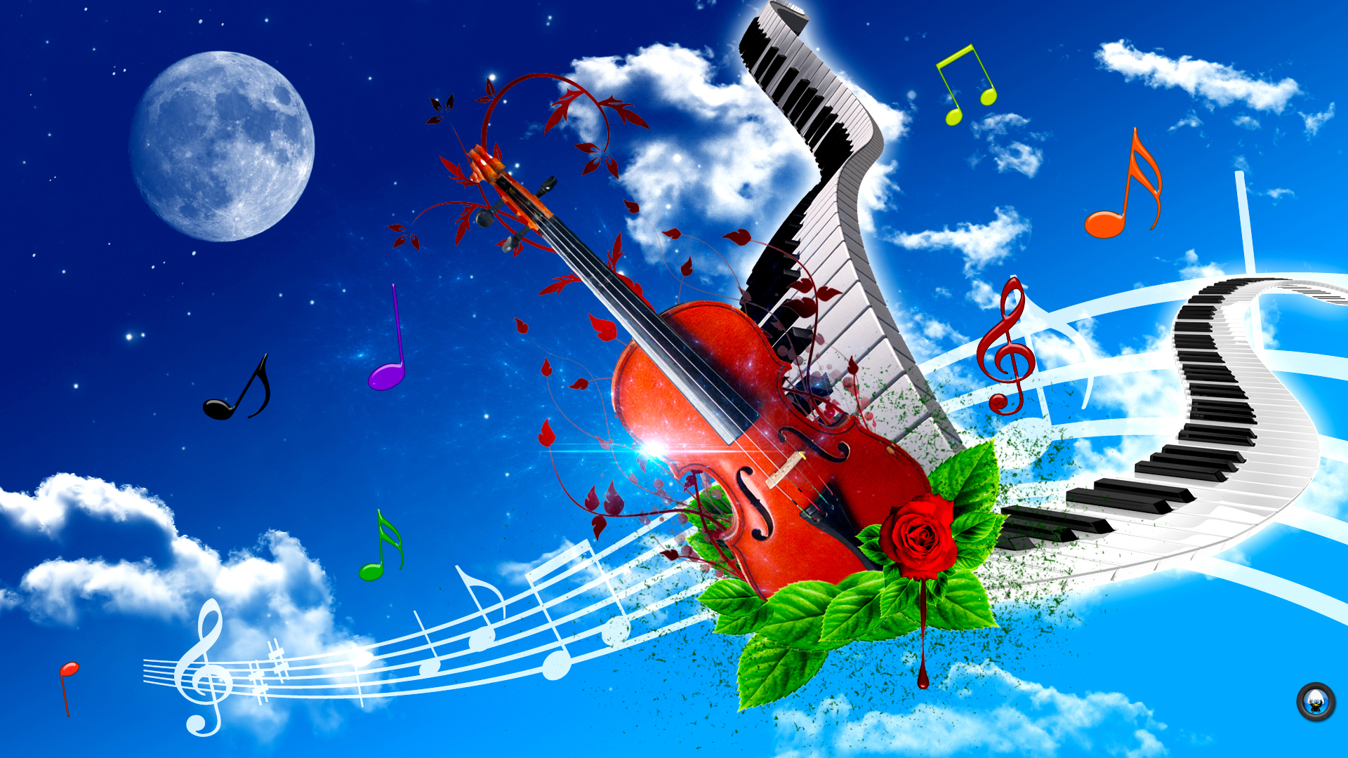 Violin And Piano Art Tone Wallpaper HD