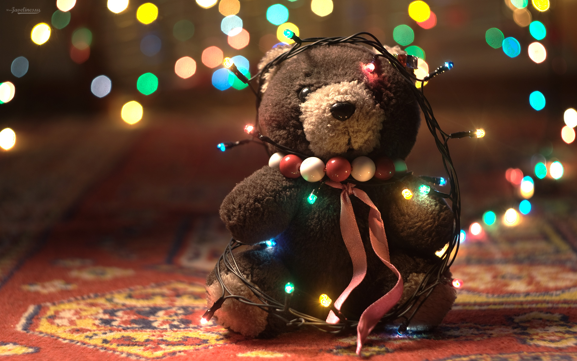 Bokeh Teddy Bear Doll Wallpaper