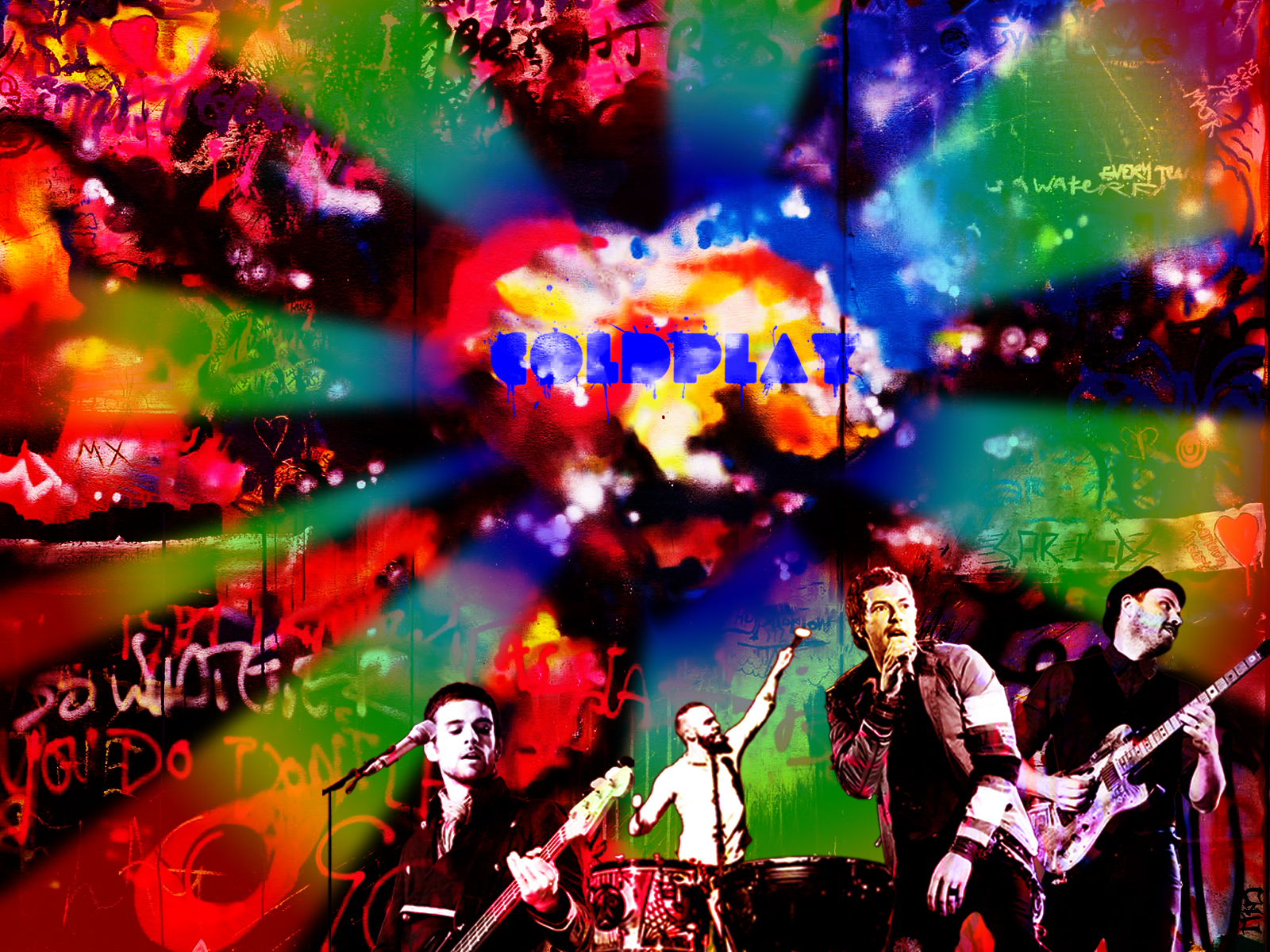 Coldplay Consert Image Wallpaper Wide