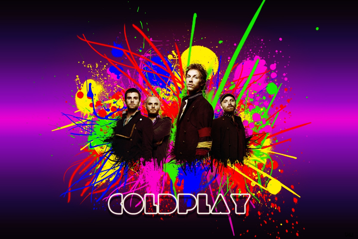 Coldplay Full Paint Art Wallpaper
