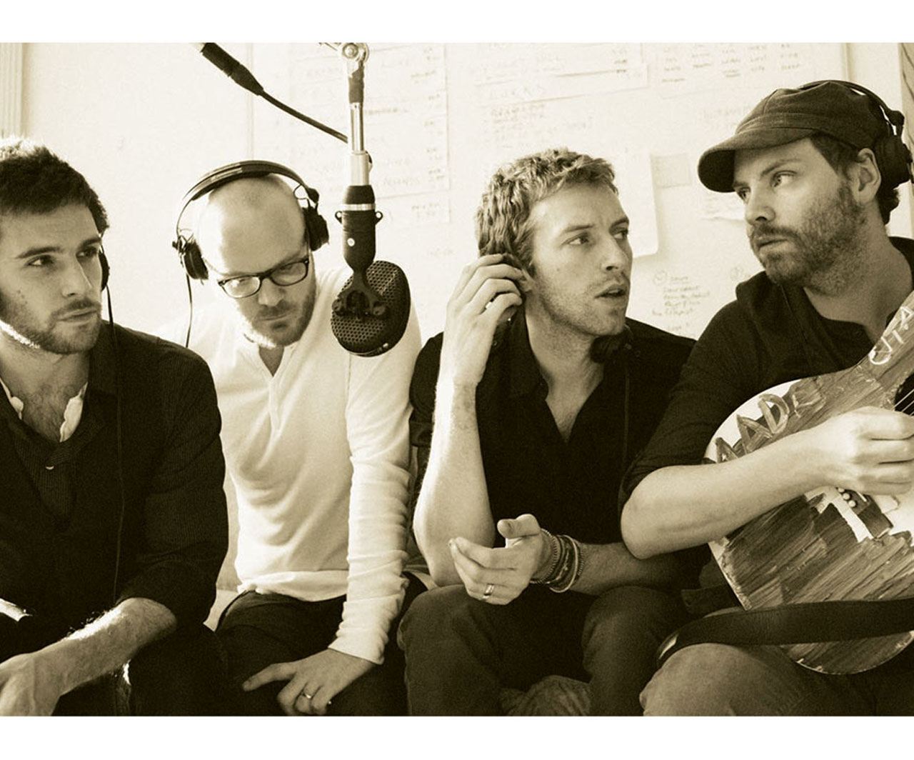 Coldplay On Recording Wallpaper