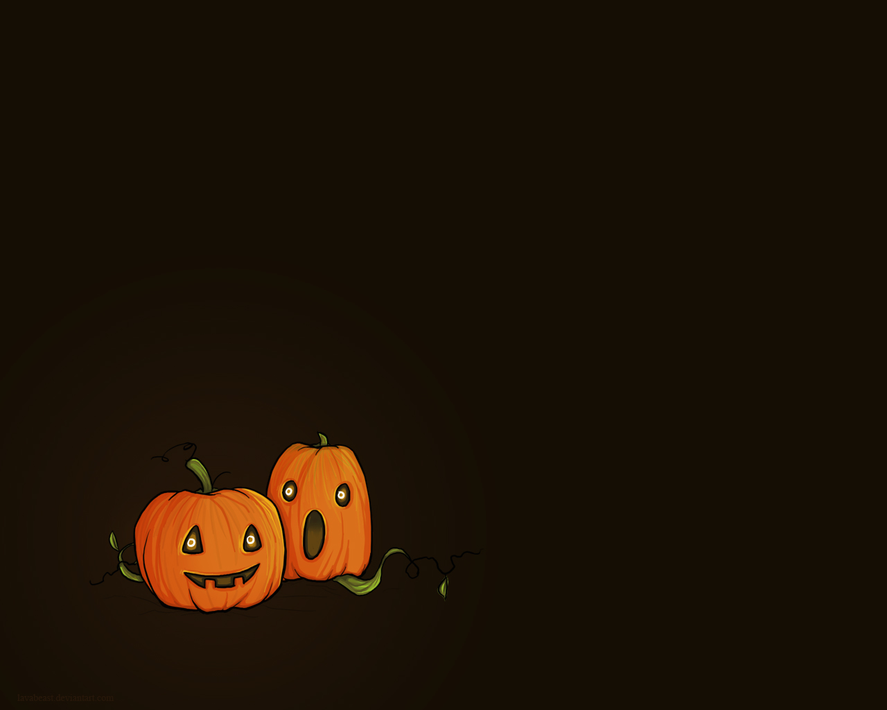 Cute Halloween Pumpkins Wallpaper