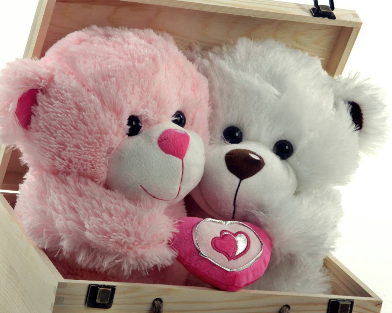 Cute Romantic Teddy Bear Wallpaper Widescreen