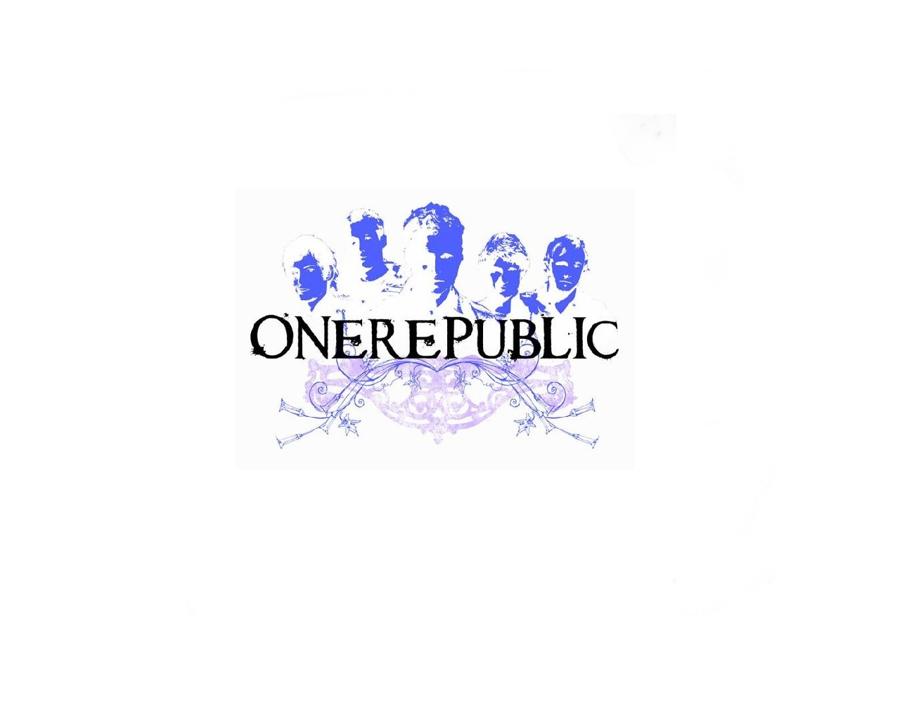 OneRepublic White Logo Wallpaper