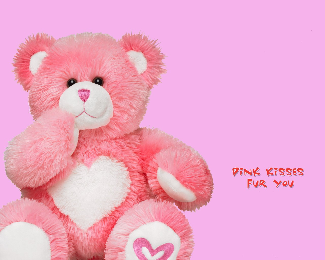 Pinky Teddy Bear Wallpaper Image