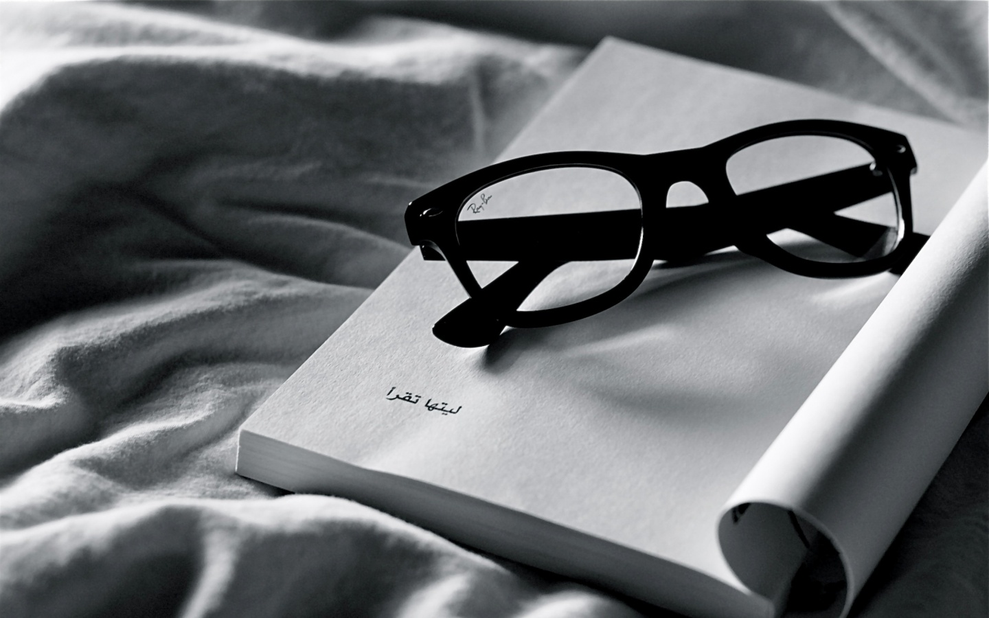 Reading Book With Glasses Wallpaper