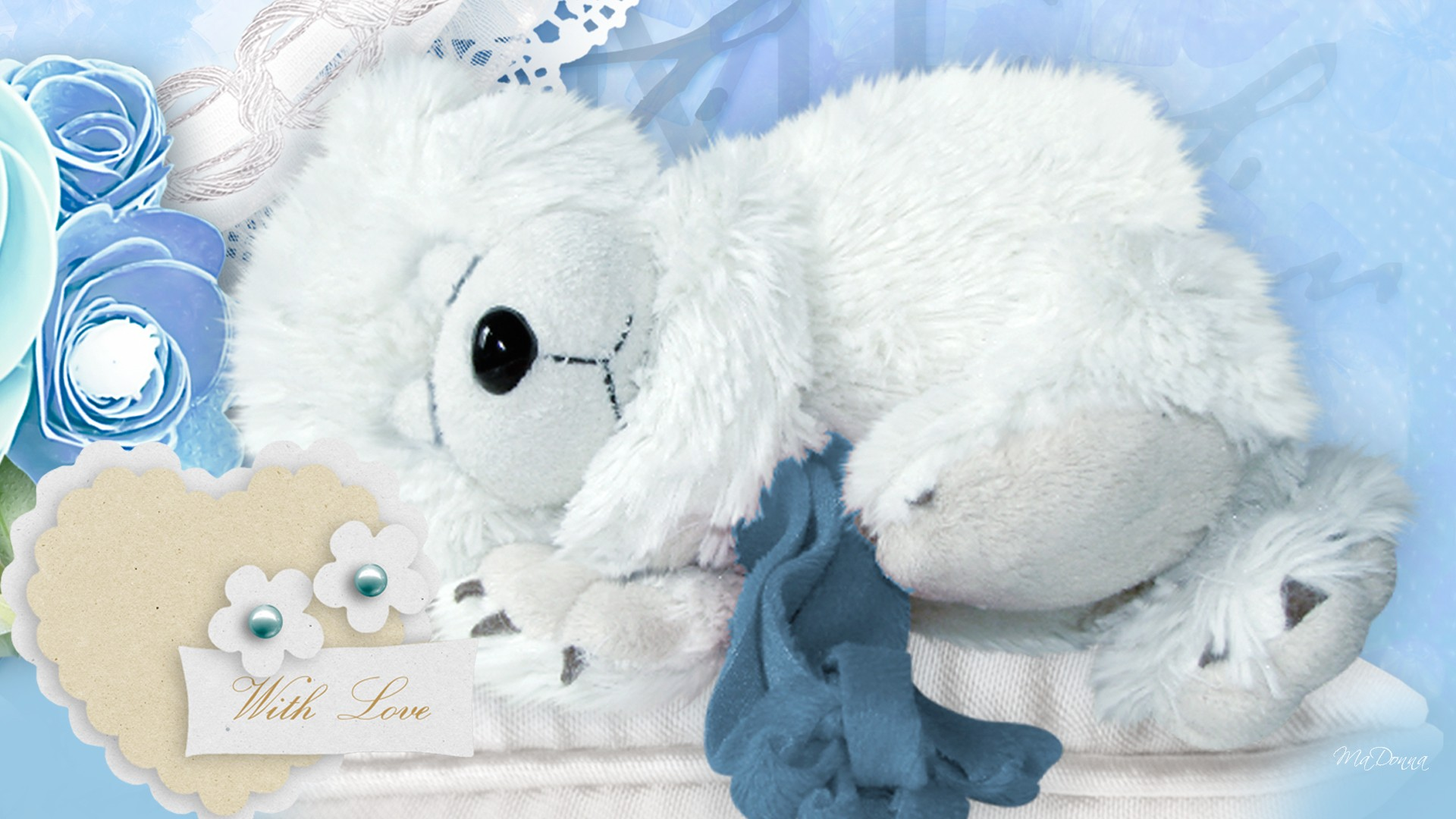 Sleep Teddy Bear Cute Wallpaper