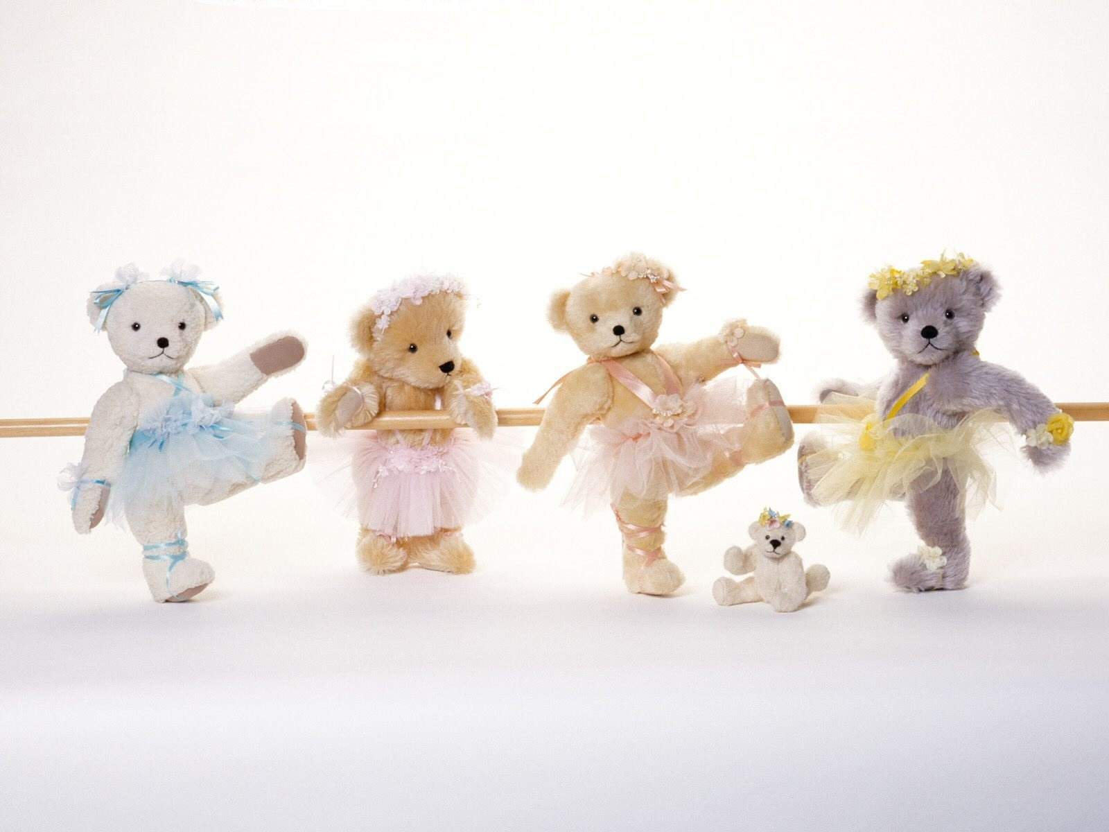 Teddy Bear Cute Ballet Wallpaper Wide