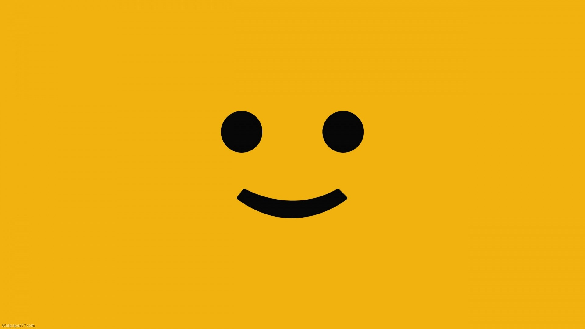 Yellow Cute Smile Wallpaper Wide