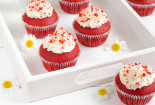Red Cupcake Food Wallpaper Image