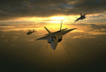 Three F 22 Airplane Sunset Wallpaper