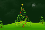 Green Christmas Tree Background Wallpaper HD