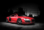 Red Audi R8 Wallpaper for iPhone
