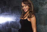Rihanna With Black Dress Wallpaper Desktop