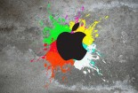 Match Apple, Colorful, Paint, Wallpaper