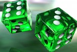 Green Dice, 3d, HD Desktop