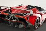 Lamborghini Veneno, Red Car, Image