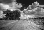Old road in black and white